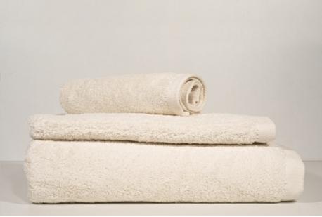 conjunto 3 toalhas banho creme