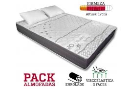 COLCHÃO ACTIVE BIOCERAMIC 17CM PACK ALMOFADAS