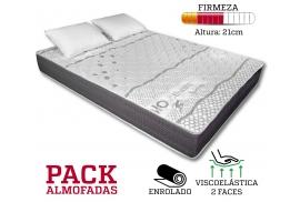 COLCHÃO ACTIVE BIOCERAMIC 21CM PACK ALMOFADAS